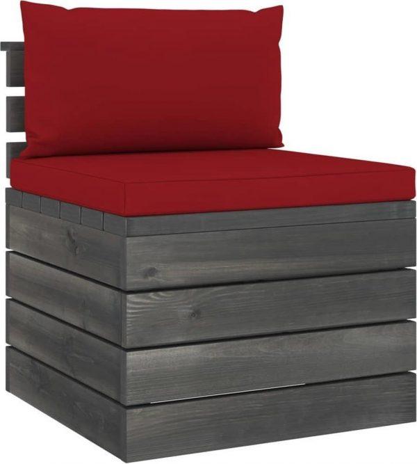 vidaXL 9-delige Loungeset met kussens pallet massief grenenhout VDXL_3062064