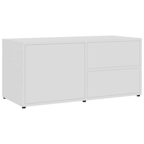 Vidaxl Tv-meubel 80x34x36 Cm Spaanplaat Wit