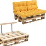 [en.casa]® Palletbank – tweezitsbank – pallet sofa – geel