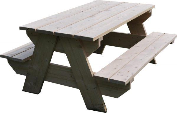 Picknicktafel - 10 Persoons - Tuintafel - Nieuw steigerhout - Vurenhout - Geschaafd - 300x140