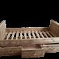 Wood4you - Eenpersoons bed jordy steigerhout 206Lx43Hx96D cm