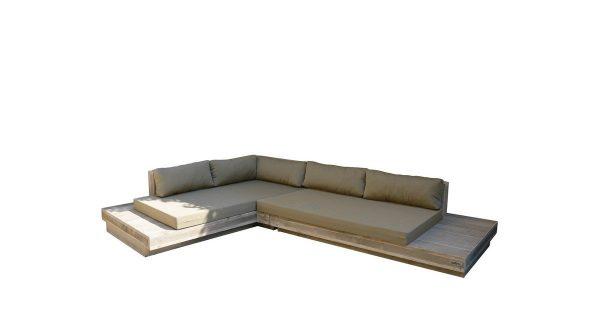 Wood4you - Loungeset 12 Steigerhout 300cm/250cm incl kussens (L-vorm)
