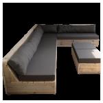 Wood4you – Loungeset 13 Steigerhout 250cm/200cm incl kussens (GL-vorm)