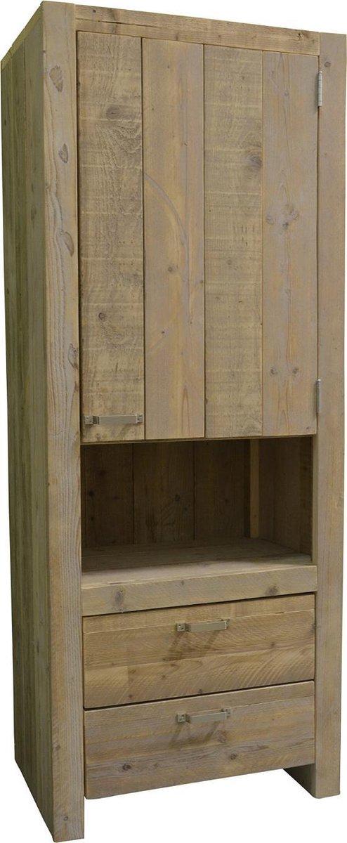 Wood4you - Steigerhouten kast - model 1 afm 80Bx200Hx50D