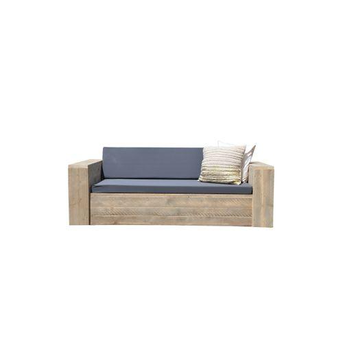 Wood4you tuinbank Washington bouwpakket steigerhout + kussens 250cm