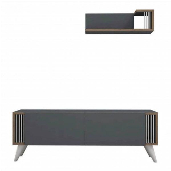 Homemania Tv-meubel Nicol 120x31x42 Cm Antraciet