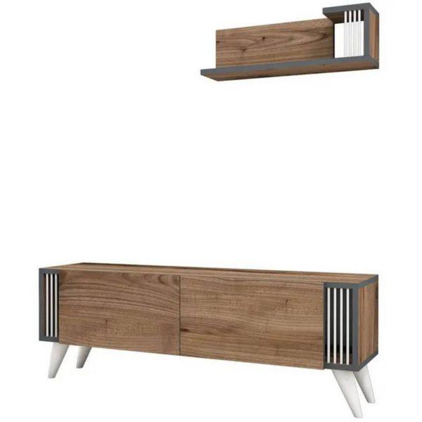 Homemania Tv-meubel Nicol 120x31x42 Cm Walnootkleurig