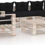 Medina 7-delige Loungeset met kussens pallet grenenhout