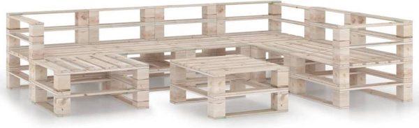 Medina 8-delige Loungeset pallet grenenhout