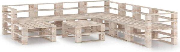 Medina 9-delige Loungeset pallet grenenhout