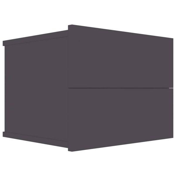 Vidaxl Nachtkastje 40x30x30 Cm Spaanplaat Hoogglans Grijs