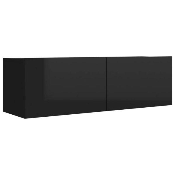 Vidaxl Tv-meubel 100x30x30 Cm Spaanplaat Hoogglans Zwart