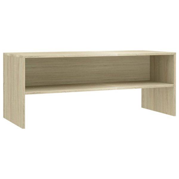 Vidaxl Tv-meubel 100x40x40 Cm Spaanplaat Sonoma Eikenkleurig