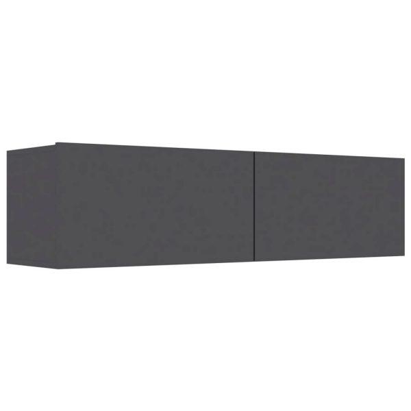Vidaxl Tv-meubel 120x30x30 Cm Spaanplaat Hoogglans Grijs