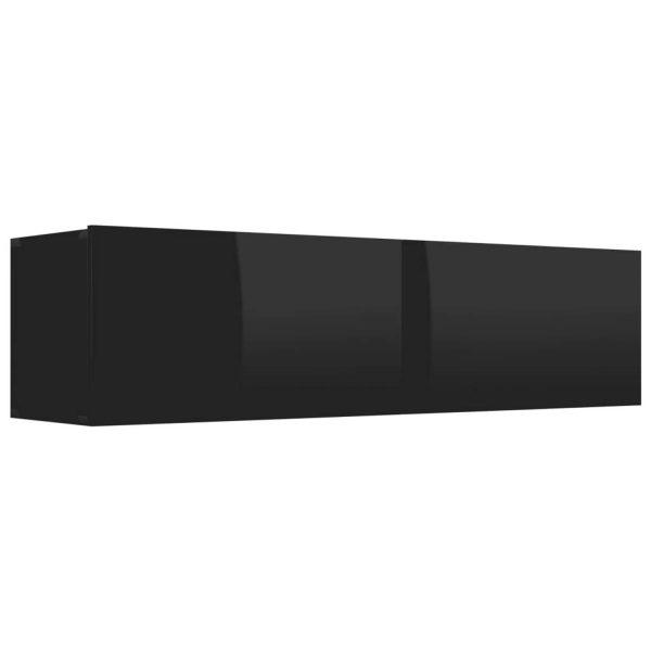 Vidaxl Tv-meubel 120x30x30 Cm Spaanplaat Hoogglans Zwart
