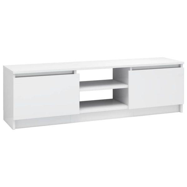 Vidaxl Tv-meubel 120x30x35,5 Cm Spaanplaat Hoogglans Wit