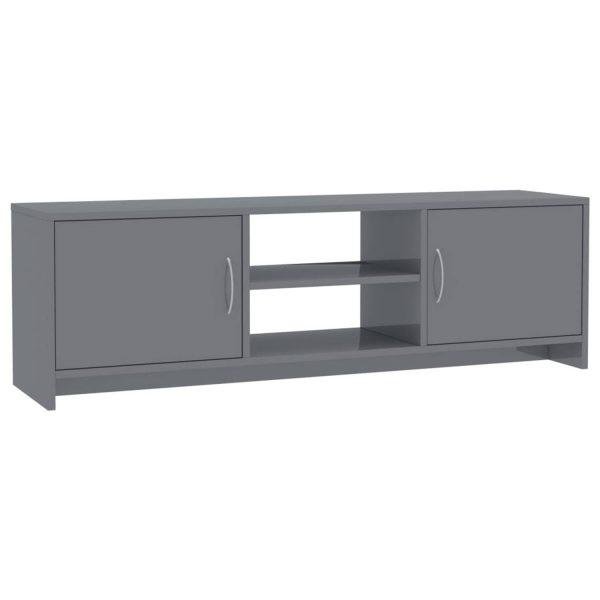 Vidaxl Tv-meubel 120x30x37,5 Cm Spaanplaat Hoogglans Grijs