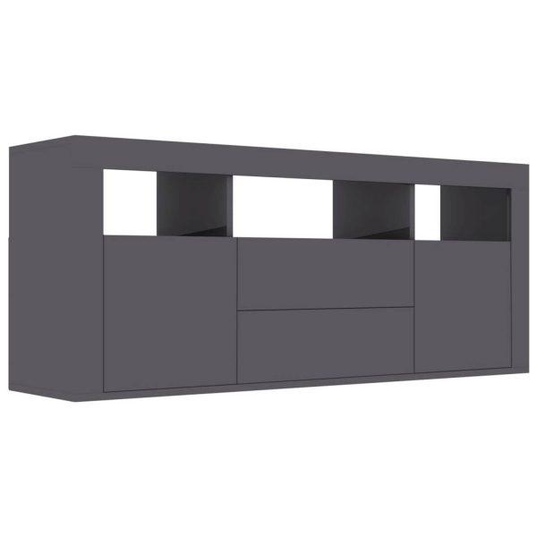 Vidaxl Tv-meubel 120x30x50 Cm Spaanplaat Hoogglans Grijs