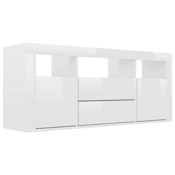 Vidaxl Tv-meubel 120x30x50 Cm Spaanplaat Hoogglans Wit