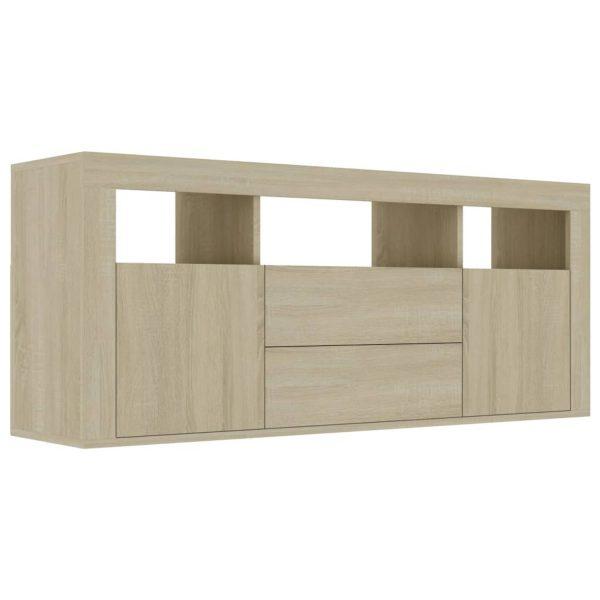 Vidaxl Tv-meubel 120x30x50 Cm Spaanplaat Sonoma Eikenkleurig