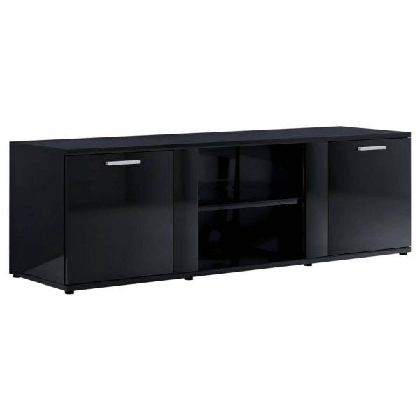 Vidaxl Tv-meubel 120x34x37 Cm Spaanplaat Hoogglans Zwart