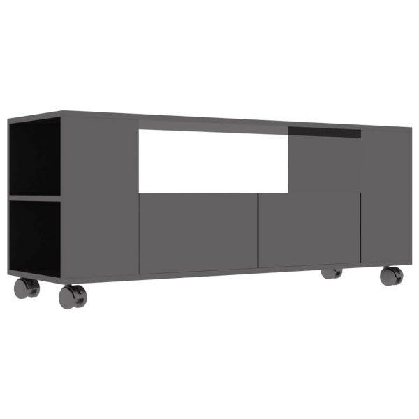 Vidaxl Tv-meubel 120x35x43 Cm Spaanplaat Hoogglans Grijs