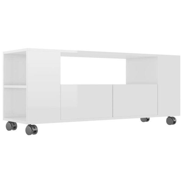 Vidaxl Tv-meubel 120x35x43 Cm Spaanplaat Hoogglans Wit