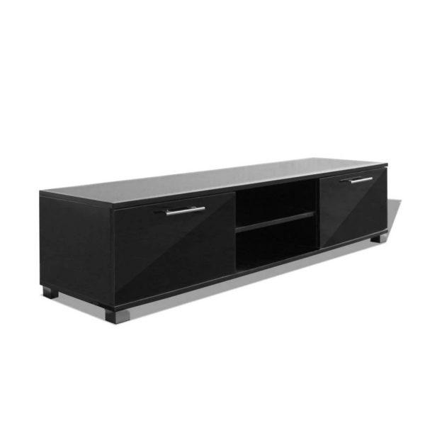 Vidaxl Tv-meubel 120x40,3x34,7 Cm Hoogglans Zwart