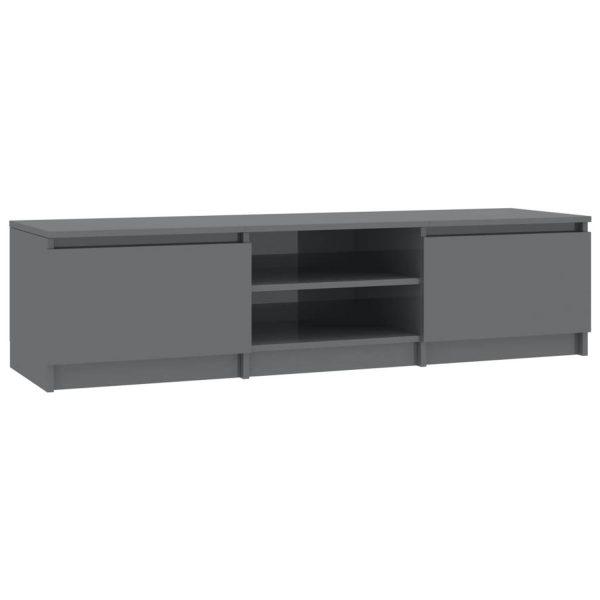 Vidaxl Tv-meubel 140x40x35,5 Cm Spaanplaat Hoogglans Grijs