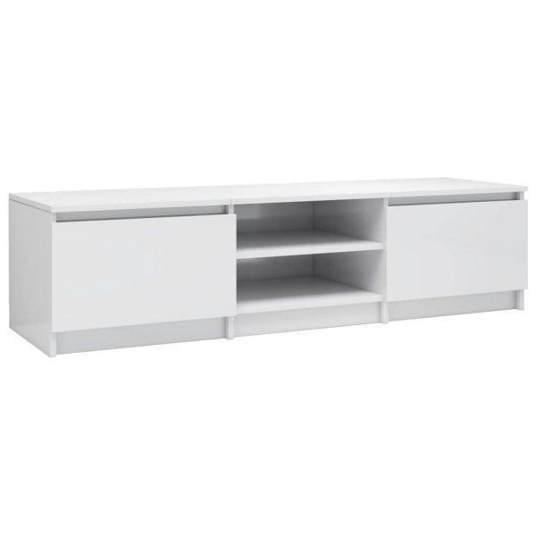 Vidaxl Tv-meubel 140x40x35,5 Cm Spaanplaat Hoogglans Wit
