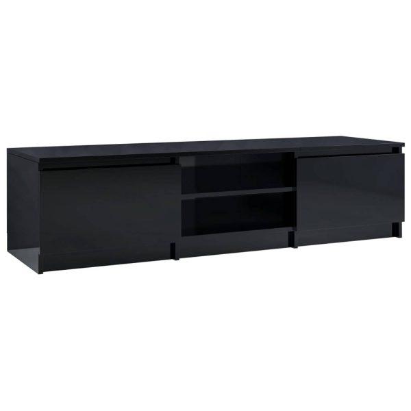 Vidaxl Tv-meubel 140x40x35,5 Cm Spaanplaat Hoogglans Zwart