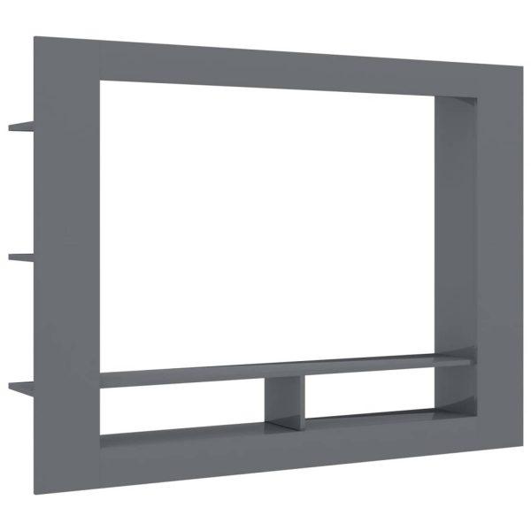 Vidaxl Tv-meubel 152x22x113 Cm Spaanplaat Hoogglans Grijs