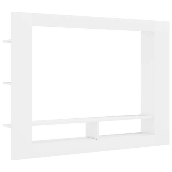 Vidaxl Tv-meubel 152x22x113 Cm Spaanplaat Hoogglans Wit