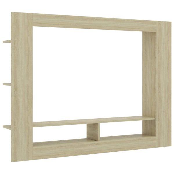 Vidaxl Tv-meubel 152x22x113 Cm Spaanplaat Sonoma Eikenkleurig