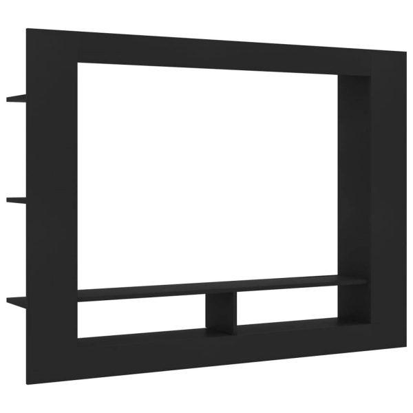 Vidaxl Tv-meubel 152x22x113 Cm Spaanplaat Zwart