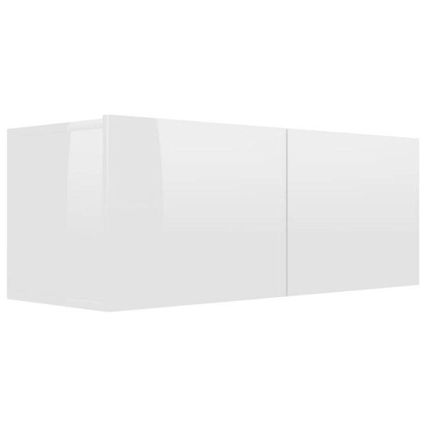 Vidaxl Tv-meubel 80x30x30 Cm Spaanplaat Hoogglans Wit