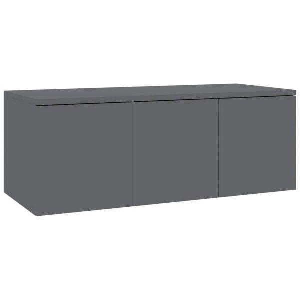 Vidaxl Tv-meubel 80x34x30 Cm Spaanplaat Hoogglans Grijs