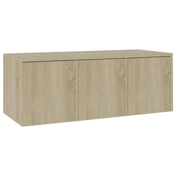 Vidaxl Tv-meubel 80x34x30 Cm Spaanplaat Sonoma Eikenkleurig