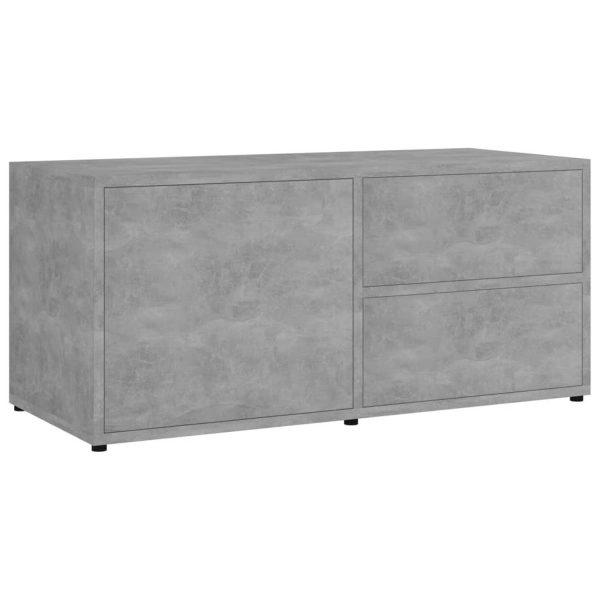 Vidaxl Tv-meubel 80x34x36 Cm Spaanplaat Betongrijs