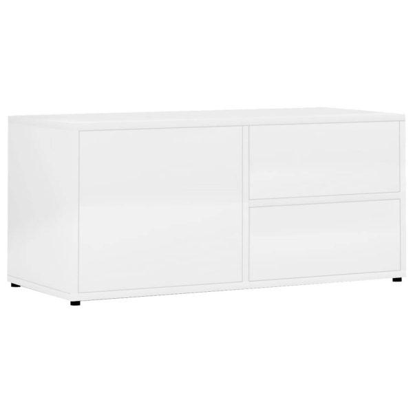 Vidaxl Tv-meubel 80x34x36 Cm Spaanplaat Hoogglans Wit