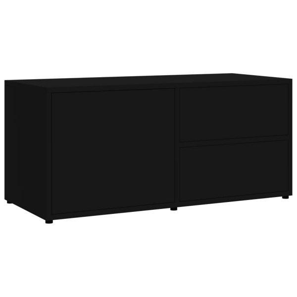 Vidaxl Tv-meubel 80x34x36 Cm Spaanplaat Hoogglans Zwart