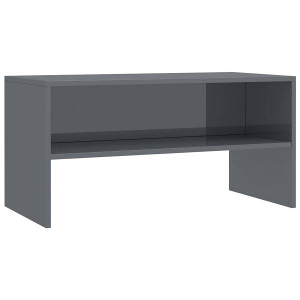 Vidaxl Tv-meubel 80x40x40 Cm Spaanplaat Hoogglans Grijs