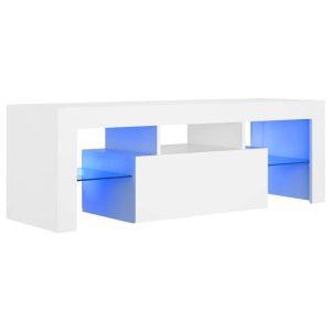Vidaxl Tv-meubel Met Led-verlichting 120x35x40 Cm Wit