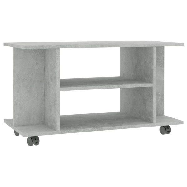 Vidaxl Tv-meubel Met Wieltjes 80x40x40 Cm Spaanplaat Betongrijs