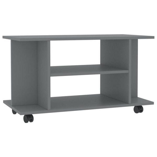 Vidaxl Tv-meubel Met Wieltjes 80x40x40 Cm Spaanplaat Grijs