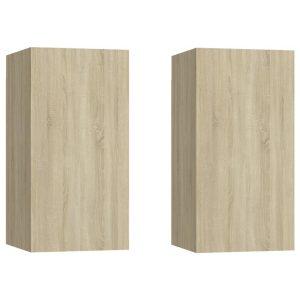 Vidaxl Tv-meubelen 2 St 30,5x30x60 Cm Spaanplaat Sonoma Eikenkleurig