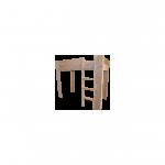 Wood4you – Hoogslaper bed Noortje steigerhout 206Lx165Hx96D cm