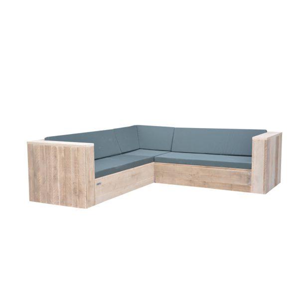 Wood4you - Loungeset 2 Steigerhout 240x200 Cm - Incl Kussens - L