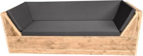 Wood4you - loungebank Phoenix Steigerhout 190Lx70Hx80D cm strak