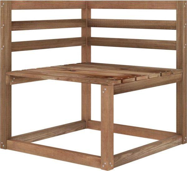 vidaXL Tuinhoekbank pallet geïmpregneerd grenenhout bruin